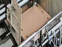 corrugated box making folding systems
